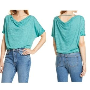 Free People Astrid Convertible Neck T-Shirt Size M